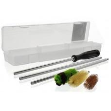 Набор для чистки 16 калибр (алюм. шомпол, 3 ерша, пластиковая коробка)
