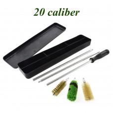 Набор для чистки 20 калибр (алюм. шомпол, 3 ерша, пластиковая коробка)