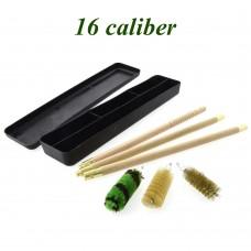 Набор для чистки 16 калибр (деревянный шомпол, 3 ерша, пласт. коробка)