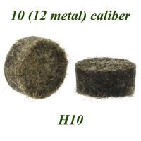 Пыж войлочный осаленный Н10 10клб. (12клб. лат/гильза) (уп.200шт.)