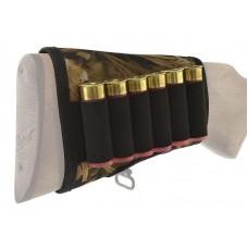 Патронташ на приклад на 6 патронов (ткань+резинка)
