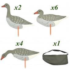 Набор гусиных профилей (фанера, 12шт, сумка)